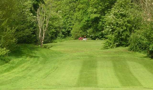 Sloping fairways at Bracken Ghyll Golf Club
