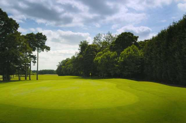 Perfectly manicured 7th green at Sutton Green Golf Club.