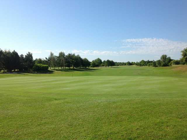 View of the 18th green at Sutton Green Golf Club