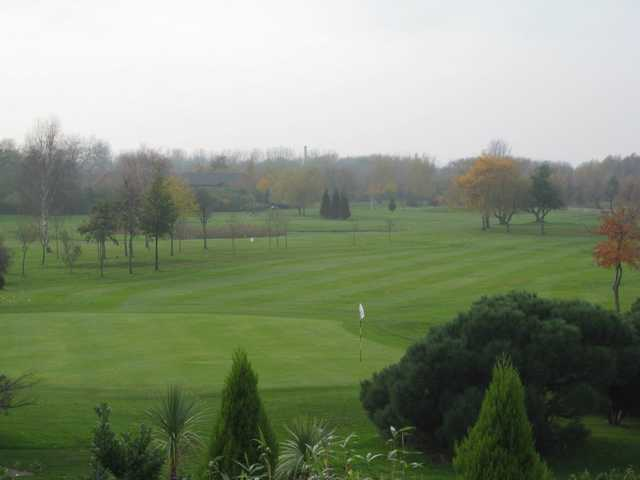 Looking down the 18th green at Houldsworth Golf Club
