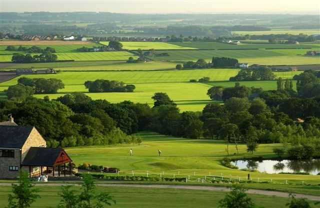 Spectacular views over the rolling countryside surrounding the course