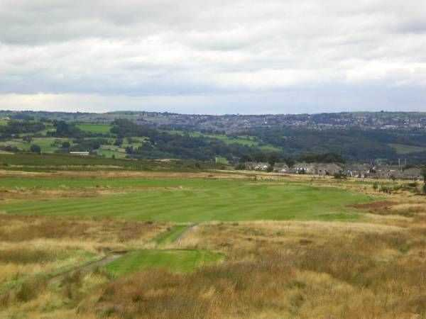 View down the 18th fairway at Baildon Golf Club