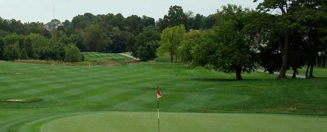 A view of a green at Blackhawk Golf Course