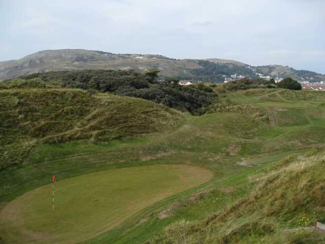 Scenic Views of the 16th and 17th greens at North Wales Golf Club