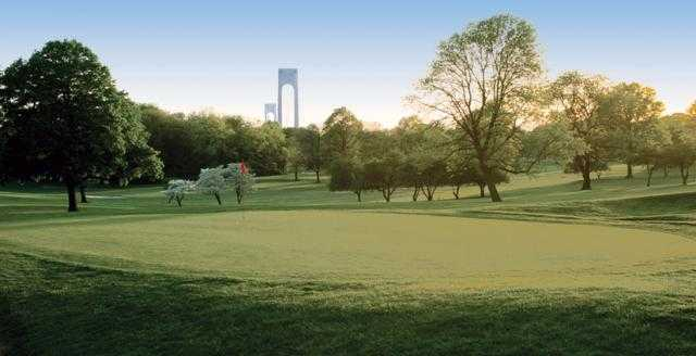 View of a green at Kissena Park Golf Course