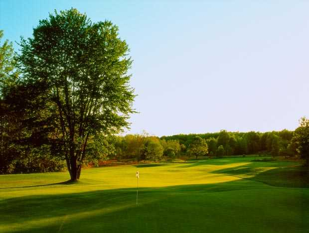 A view of a hole from The Valley at Wilderness Valley Golf Resort