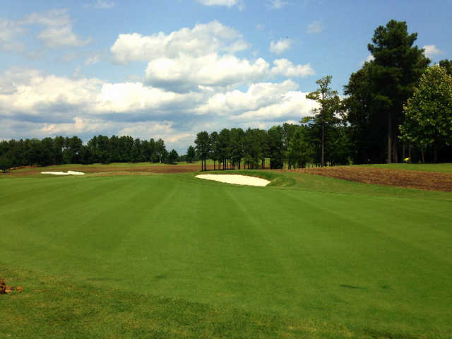 A view of the 17th green at Championship from Independence Golf Club