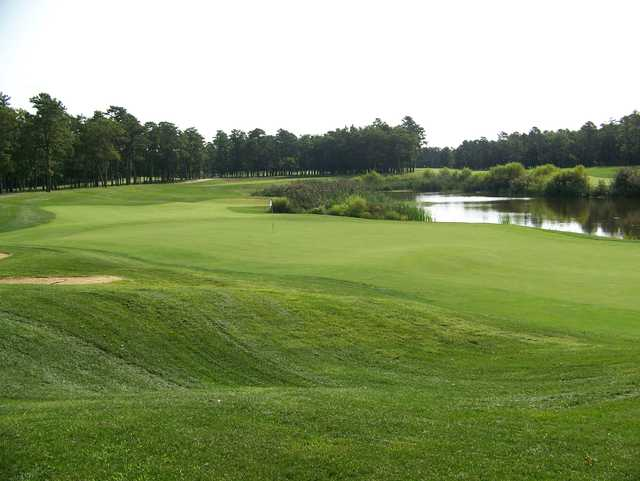 Looking back from a green at Sea Oaks Country Club