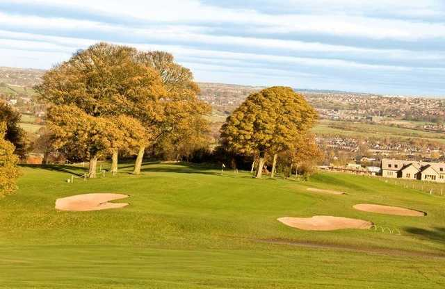 Strategically placed bunkers at Dewsbury District Golf Club