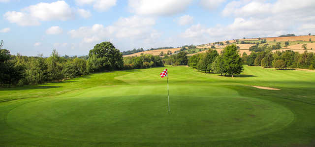 A look back from the 16th green at Feldon Valley Golf Course
