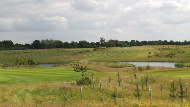 View across the course and lakes at Luton Hoo Golf Course