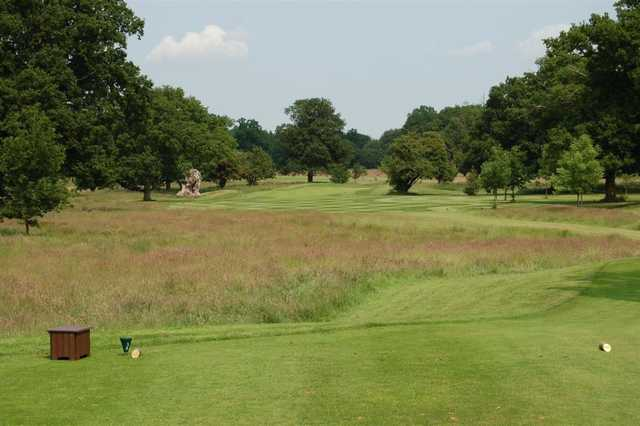View of the fairway from the tee at Luton Hoo Golf Club
