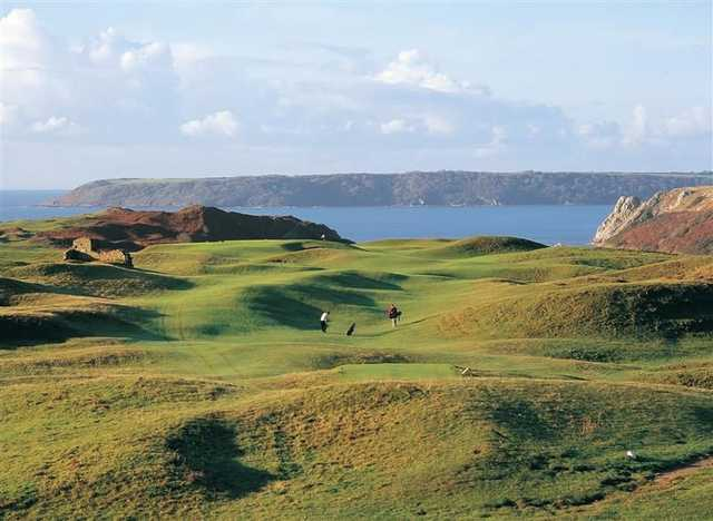 View from Pennard GC