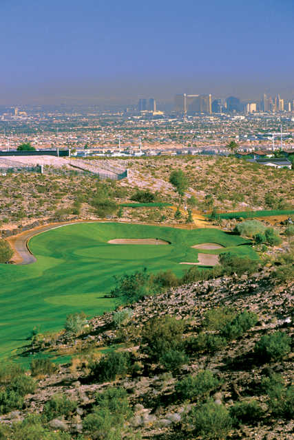 Strip view from Rio Secco Golf Club's 11th hole