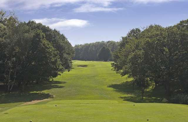 A view from the tee at the Tylney Golf Club