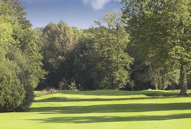 Looking down the fairway at Tylney Golf Club