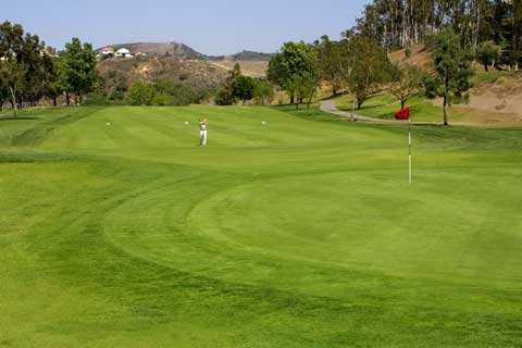 A view of the 9th green at Anaheim Hills Public Country Club