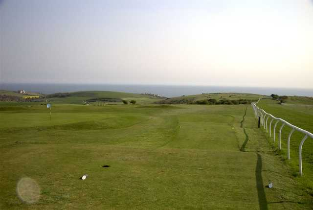 A look down from the 12th tee at East Brighton Golf Club