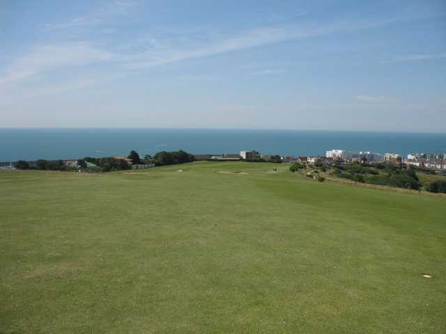 Enjoy panoramic vistas from the 18th as seen at East Brighton Golf Club