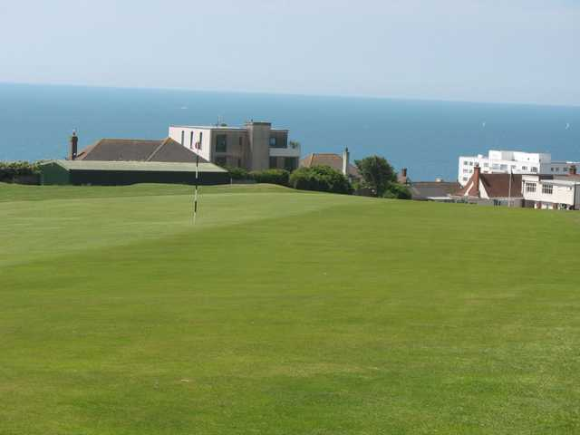 Panoramic vistas as seen from the 1st at East Brighton Golf Club