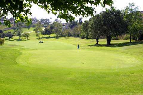 A view of green #14 at Anaheim Hills Public Country Club