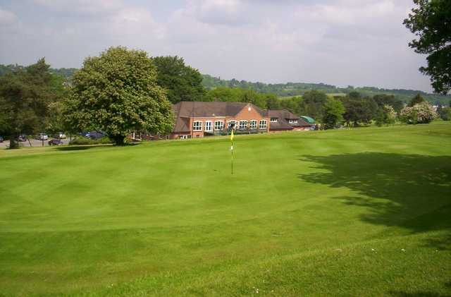 Clubhouse view from the back of the green