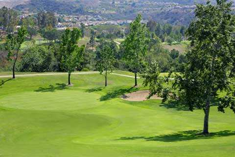 A view of the 17th hole at Anaheim Hills Public Country Club