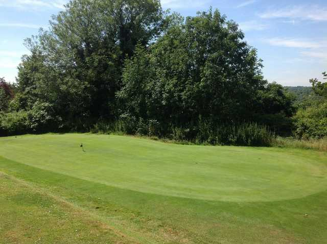 A view of the putting green at Chipstead Golf Club