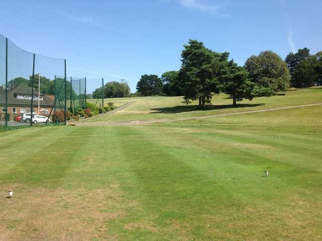 A view of the 1st hole at Chipstead Golf Club