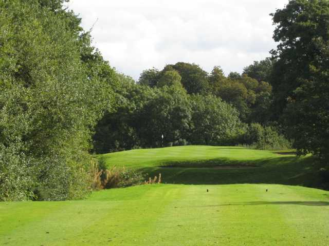 A view down the fairway at the Bromborough