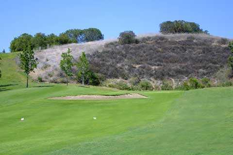A view of hole #16 at Anaheim Hills Public Country Club