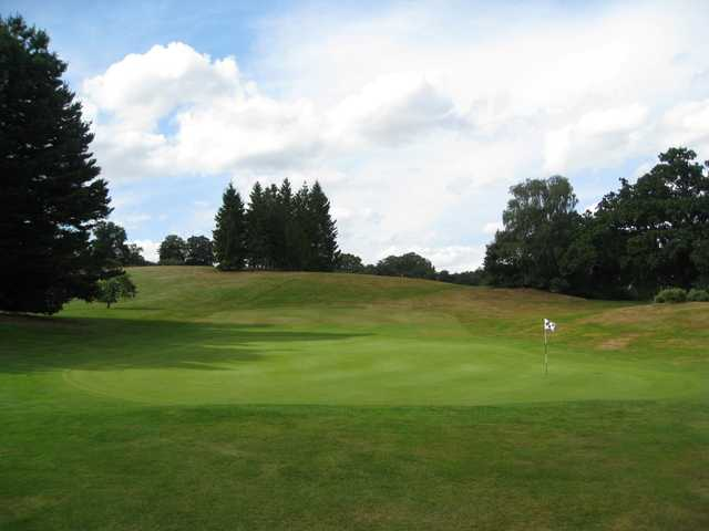 A view of the 18th green at Bridgnorth Golf Club