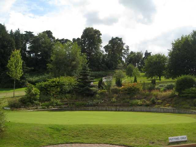 The putting green at Bridgnorth Golf Club