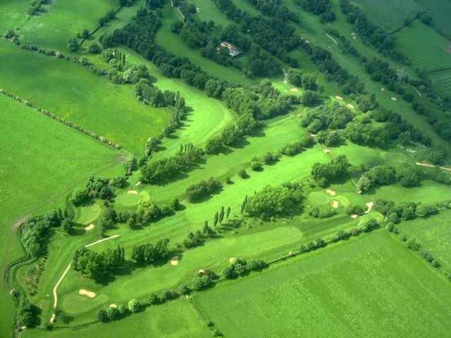 An aerial view over Kibworth Golf Club