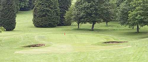 The 17th green at the Forest of Dean Golf Course