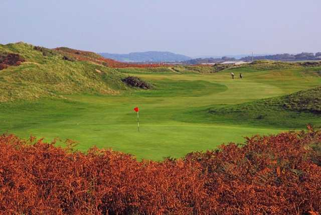 Approach to the 13th at Pyle & Kenfig Golf Club