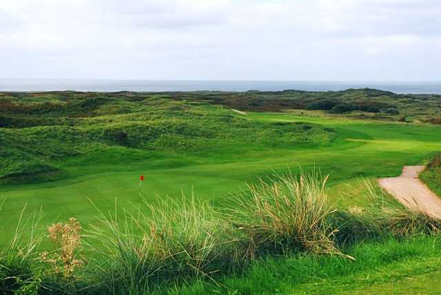 Pyle and Kenfig Golf Club's 14th fairway running through the dunes