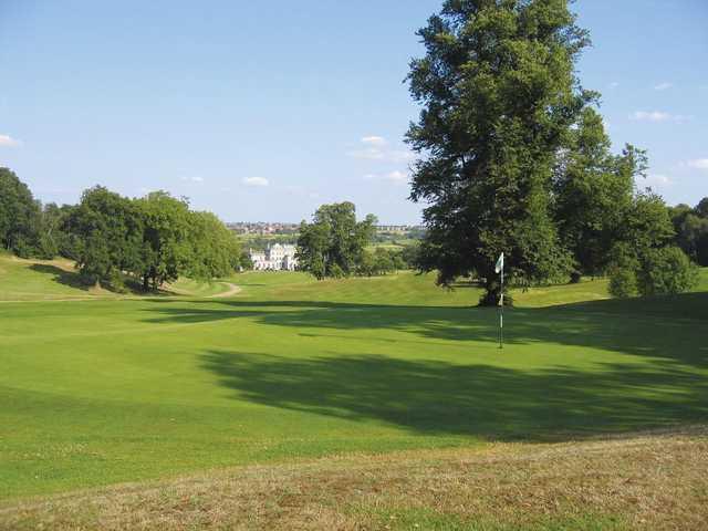 The greens at Addington Palace Golf Club