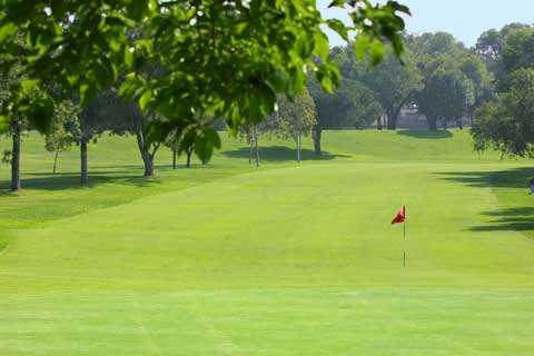 A view of the 6th green at Dad Miller Golf Course