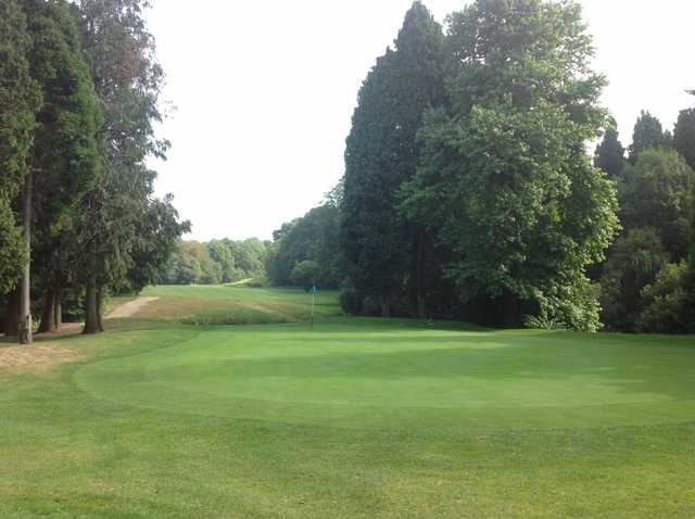 A scenic view of the 18th green at Gatton Manor Golf Club