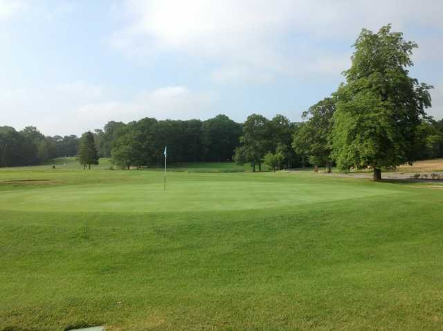 An open view of the third green at Gatton Manor Golf Club