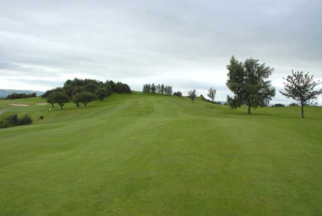 The 17th approach at Llanymynech Golf Club
