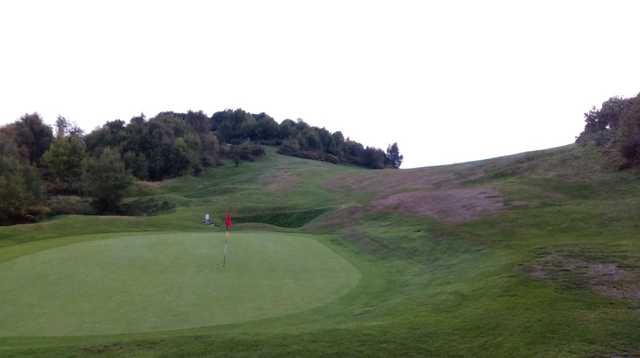 A view of the 15th green at Llanymynech Golf Club