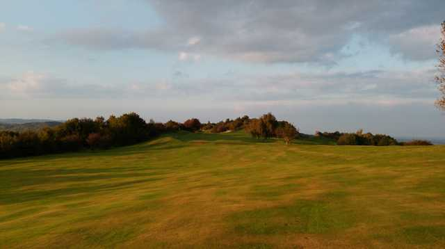 A stunning view of the 12th fairway at Llanymynech Golf Club