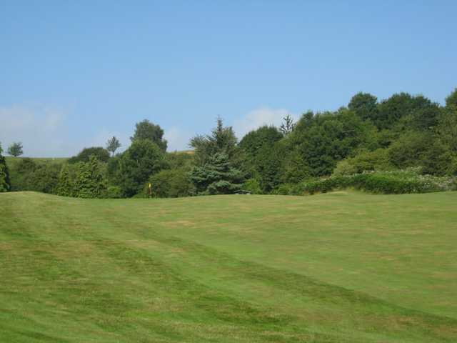 The approach to the 10th at Llanymynech Golf Club