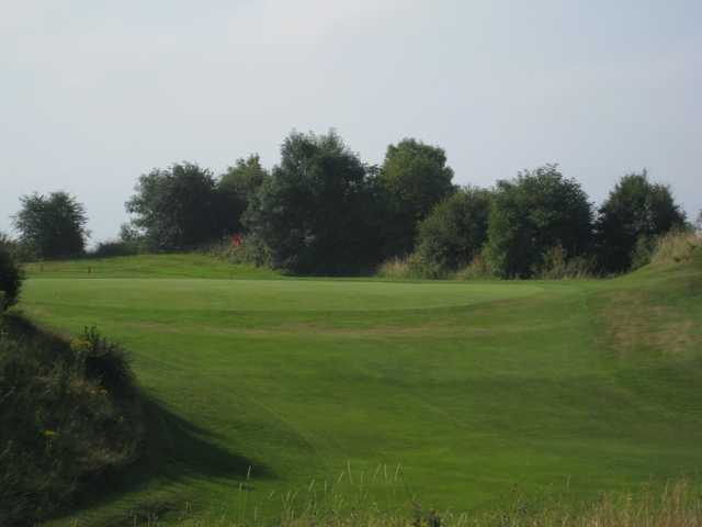 The challenging 18th hole at Llanymynech Golf Club