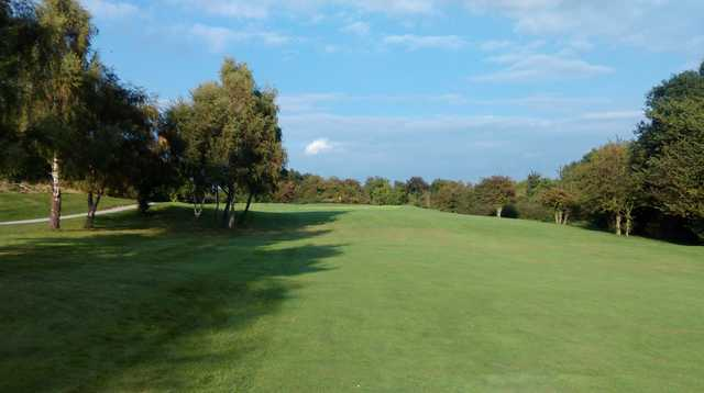 The 2nd approach at Llanymynech Golf Club