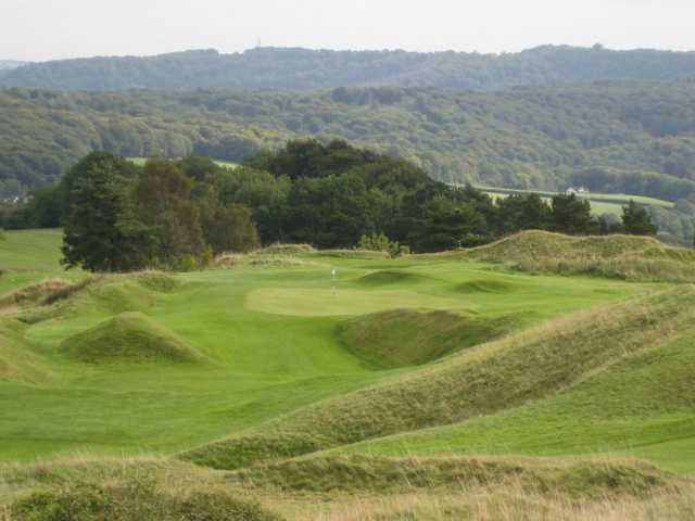 The challenging terrain formation at Painswick