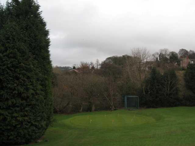 The putting green at Macclesfield Golf Club
