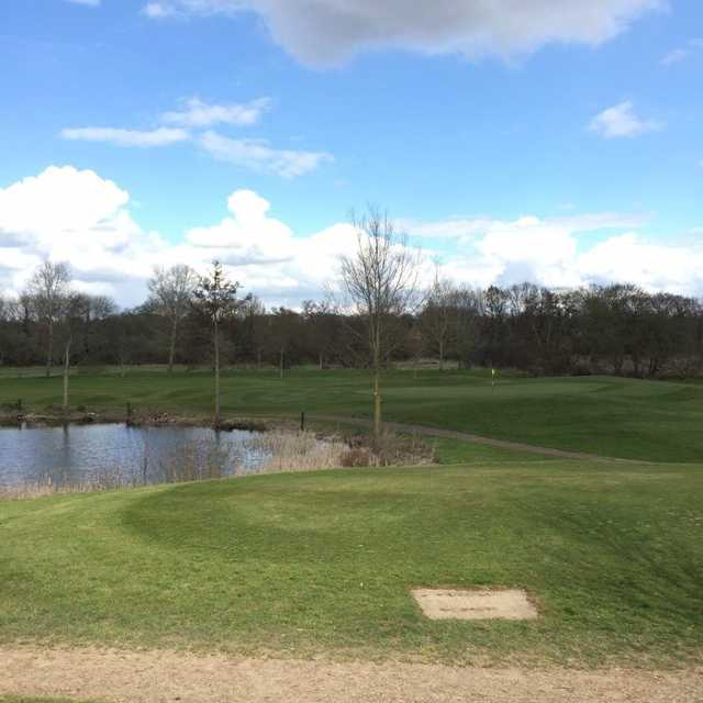 The 12th green at Colne Valley Golf Club